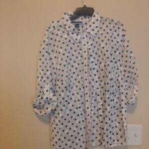 Polkadot black blouse